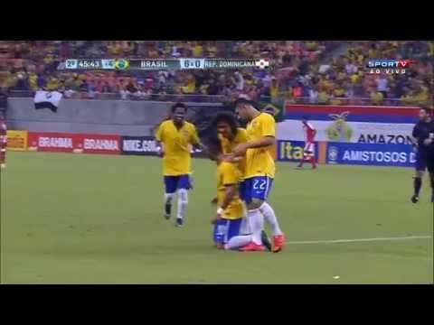 Brasil Sub-23 6 x 0 Republica Dominicana - GOLS - Amistoso 2015