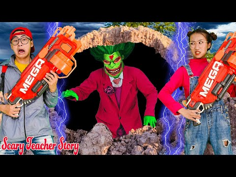 Nick Become Superheroes Vs Giant Miss T Zombie Save Tani | Scary Teacher 3D In Real Life |