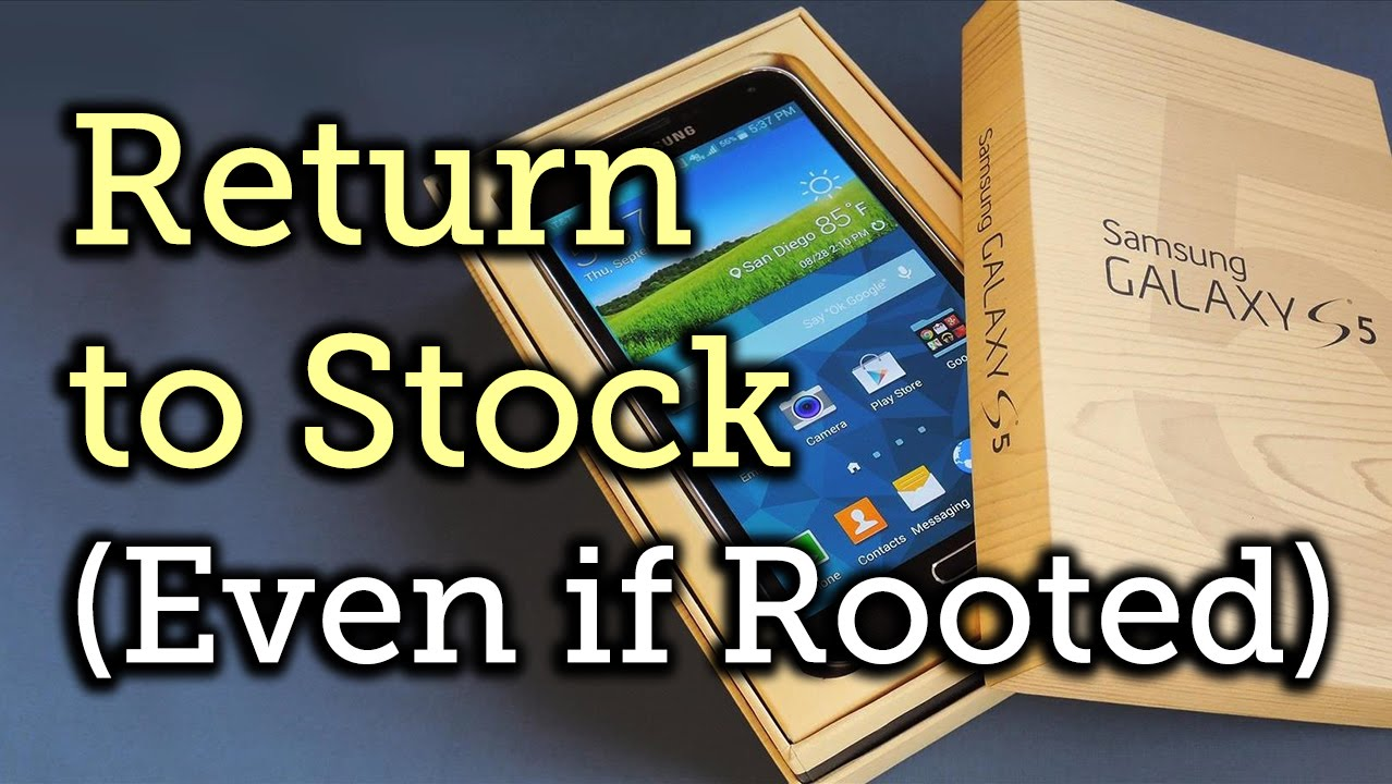 How to Unroot & Restore a Galaxy S5 Back to Stock « Samsung Galaxy