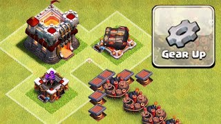 GEARED UP TROLL BASE | Clash of Clans | Double Cannon and Archer Tower Gear Up