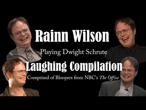 Rainn Wilson Dwight Schrute Laughing Compilation & Bloopers
