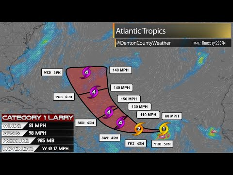 Tropics watch: Hurricane Larry forecast to become category 4 storm ...