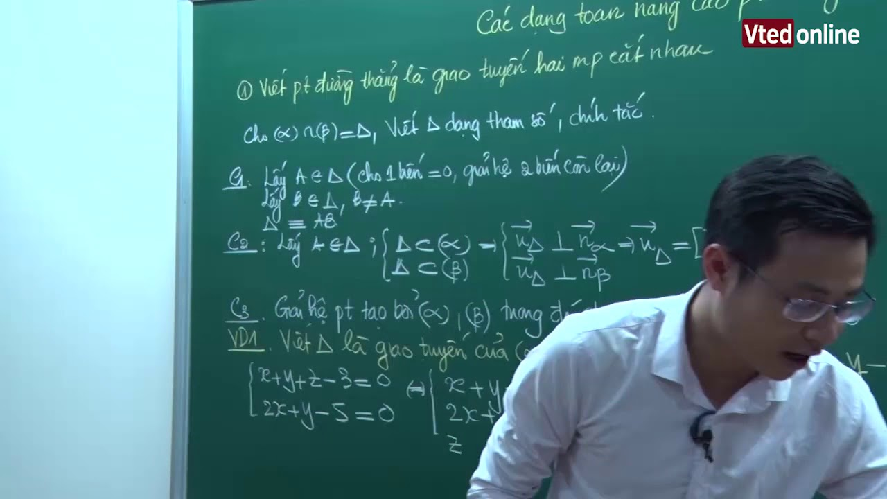 Vted.vn – Các dạng toán nâng cao viết phương trình đường thẳng