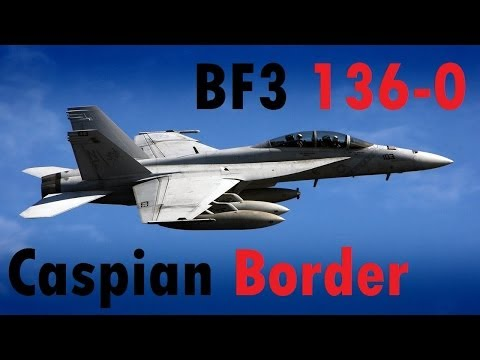 BF3 Perfect Jet Round (136-0) | Caspian Border: F-18 | Conquest HD Gameplay