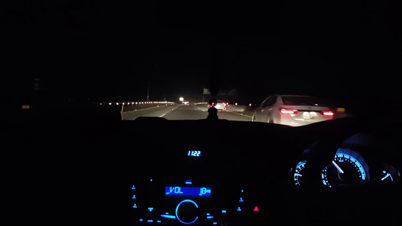 Night Time Drive In Pakistan Motorway Youtube