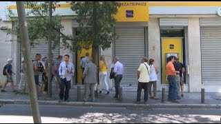 LIVE: People line up at banks and ATMs after referendum announcement