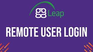 ggLeap - Remote Login of a User