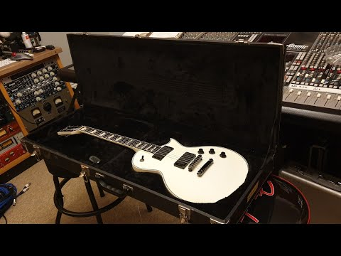 ESP 2010 Eclipse Arctic White Up Close Video Review At Essex Recording Studios