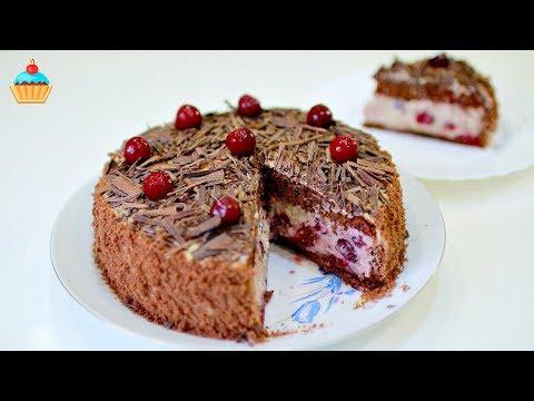 """Торт """"ПЬЯНАЯ ВИШНЯ"""" простой рецепт - ну, оОчень вкусный!"""