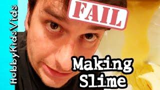 Making Slime FAIL! Recipe with Applesauce + Vanilla Pudding by HobbyKidsVids