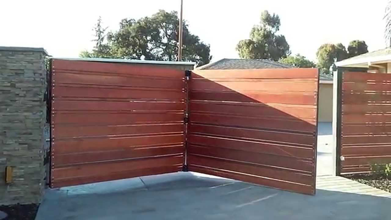 Trackless Bi Fold Automatic Gate 14u0027   YouTube