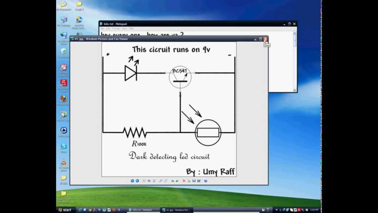 Dark Detecting Circuit All Kind Of Wiring Diagrams Detector How To Make A Or Light Led Using Ldr Youtube Sensor Transistor Amplifier