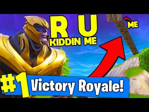THANOS CAN'T BEAT YOU IF YOU DO *THIS* In Fortnite Battle Royale!!