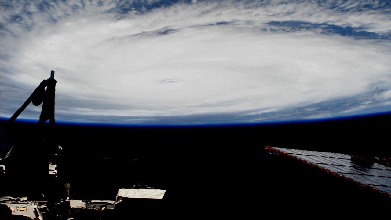 iss passes over hurricane