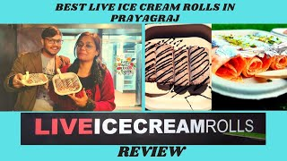 Live Ice-Cream Rolls|| Review || Gajar Ka Halwa Ice Cream || Foodie Niks