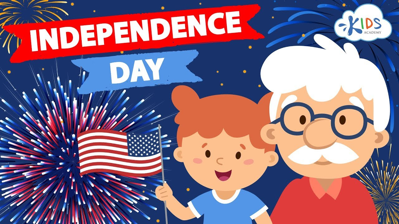 4th Of July For Kids - Independence Day   Story with Interesting Facts for  Children   Kids Academy - YouTube [ 720 x 1280 Pixel ]