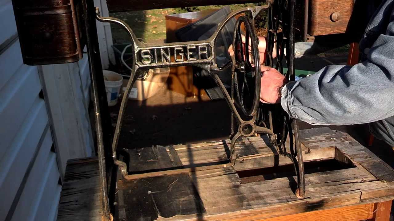 How To Install Antique Cast Iron Singer Treadle Flywheel
