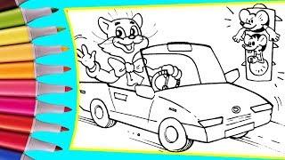 РАСКРАСКИ! Раскрашиваем картинки для детей из мультфильмов Кот Леопольд и мышата