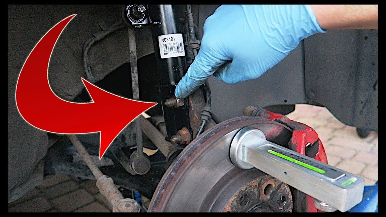 how to adjust camber bolts