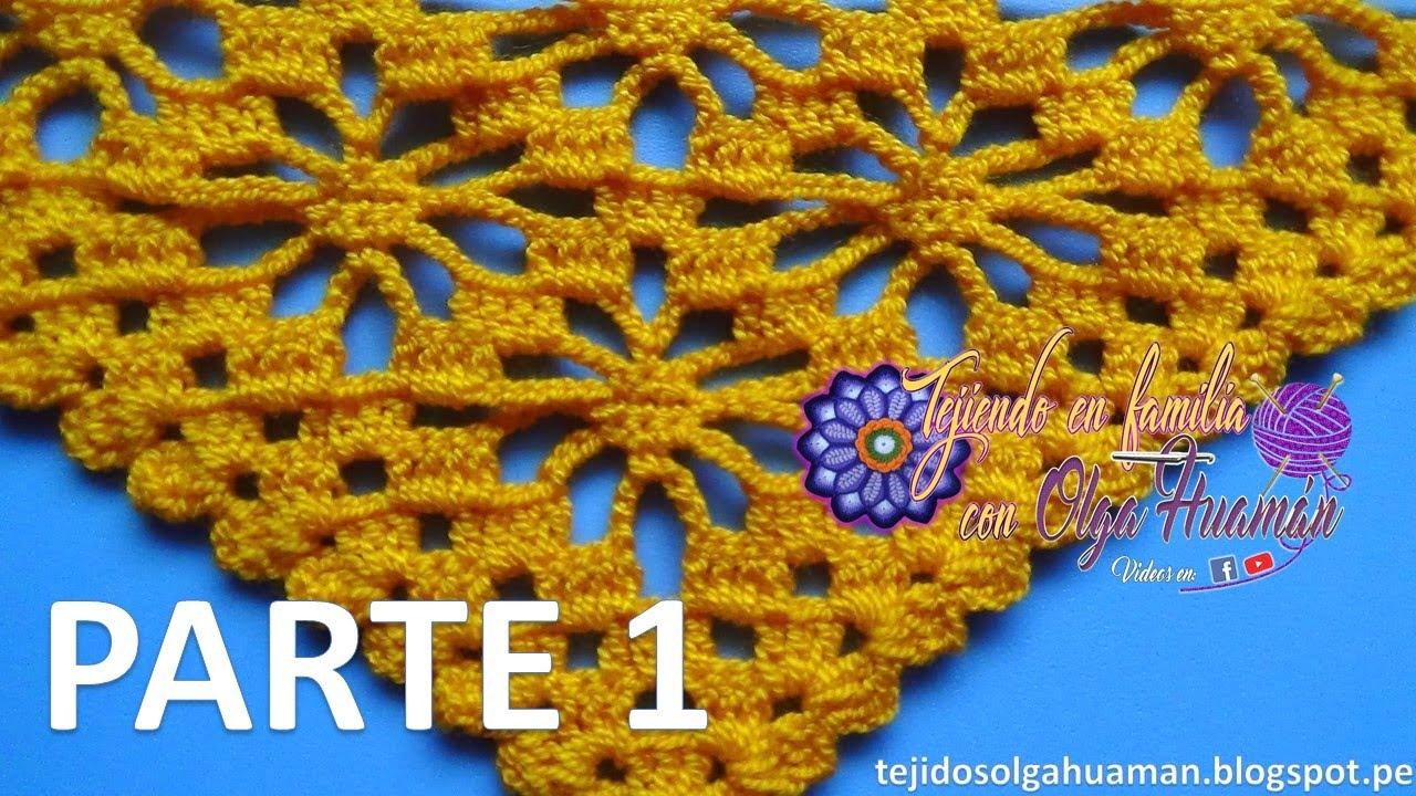 chal tejido a crochet paso a paso en punto ARAÑAS video 1 - YouTube