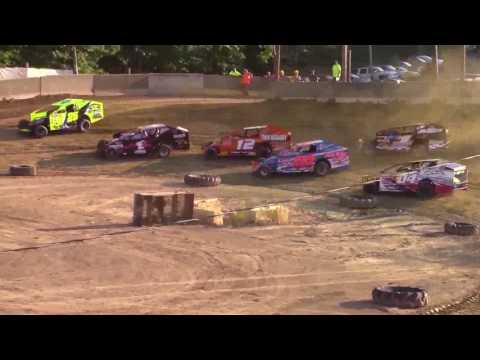 Old Bradford Speedway BEI Lightning Series  Dirt Car Sportsman Heat Races 8-20-17