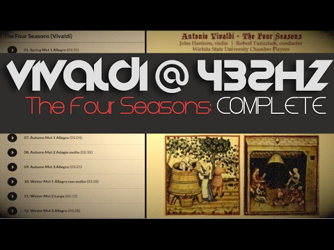 "BEST COMPLETE  ""Four Seasons"" ☯ VIVALDI 432Hz ☯ [Classical Music @ 432Hz ]"