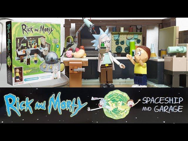 Rick und Morty: Spaceship und Garage Unboxing & Review (Klemmbausteine von McFarlane Builds)