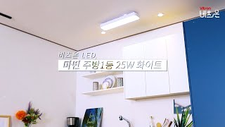 비츠온 LED 마빈 주방1등 25W 화이트