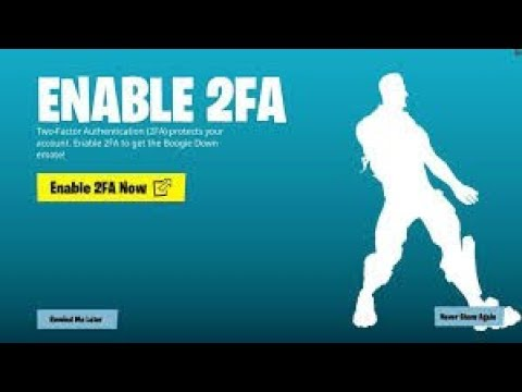 How to enable 2FA two factor authentication in 'Fortnite'
