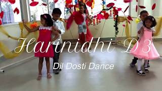 Bollywood mash-up song |kids Dance cover| Choreographed by yarab| Harinidhi D3| Dil Dosti Dance |