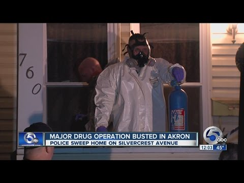 Major drug bust in Akron, 4 charged