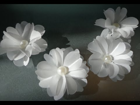 Easy pretty 3d vellum flowers stampin up youtube mightylinksfo