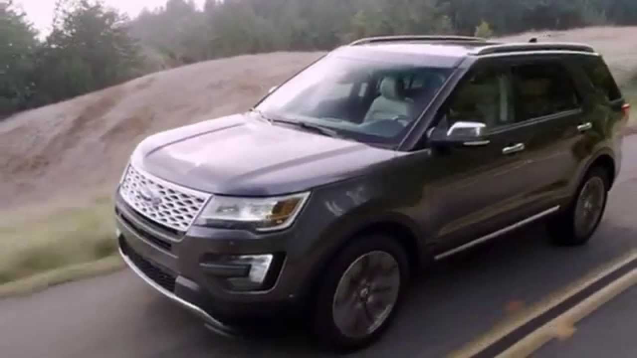 2016 ford explorer platinum interior exterior and driving test youtube