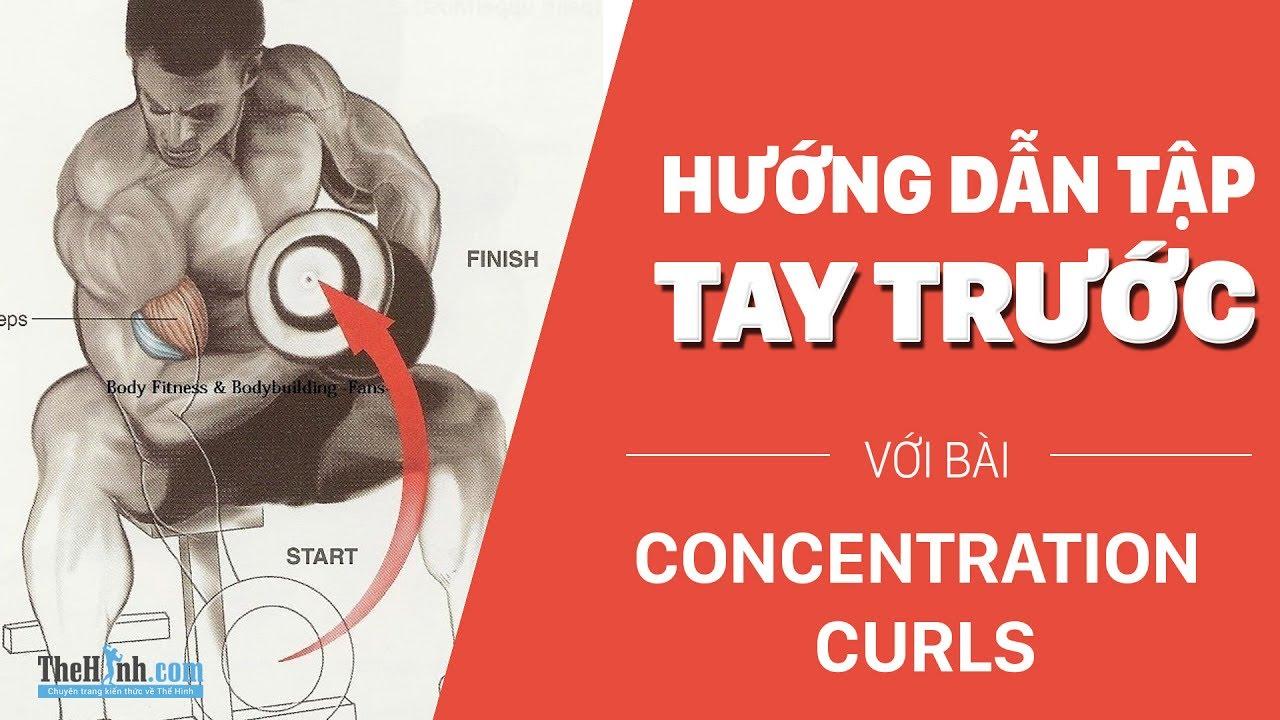 Bài tập tay trước Concentration Curls | Tập tay trước với tạ đơn tốt nhất