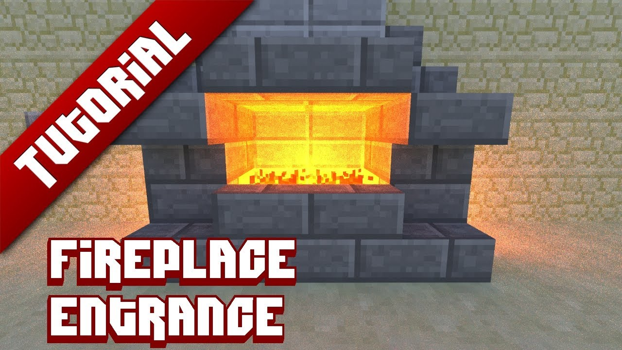 Minecraft Tutorial: Hidden fireplace entrance - YouTube
