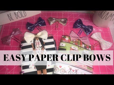 DIY Planner Paper clip Bows | Dollar Tree | Primark