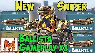 War Robots Test Server - NEW Medium Weapon Ballista Gameplay - WR