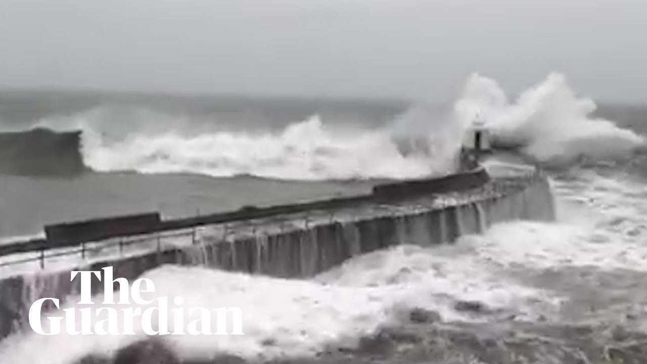 Storm Dennis: footage shows weather chaos hitting the UK