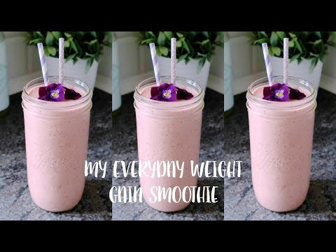 MY EVERYDAY WEIGHT GAIN SMOOTHIE RECEIPE  ||  1100 CALORIES