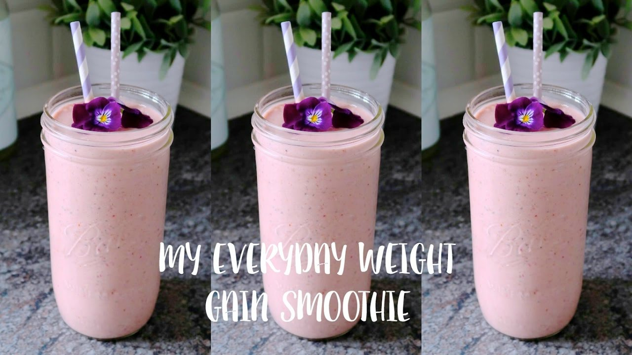 My Everyday Weight Gain Smoothie Receipe 1100 Calories