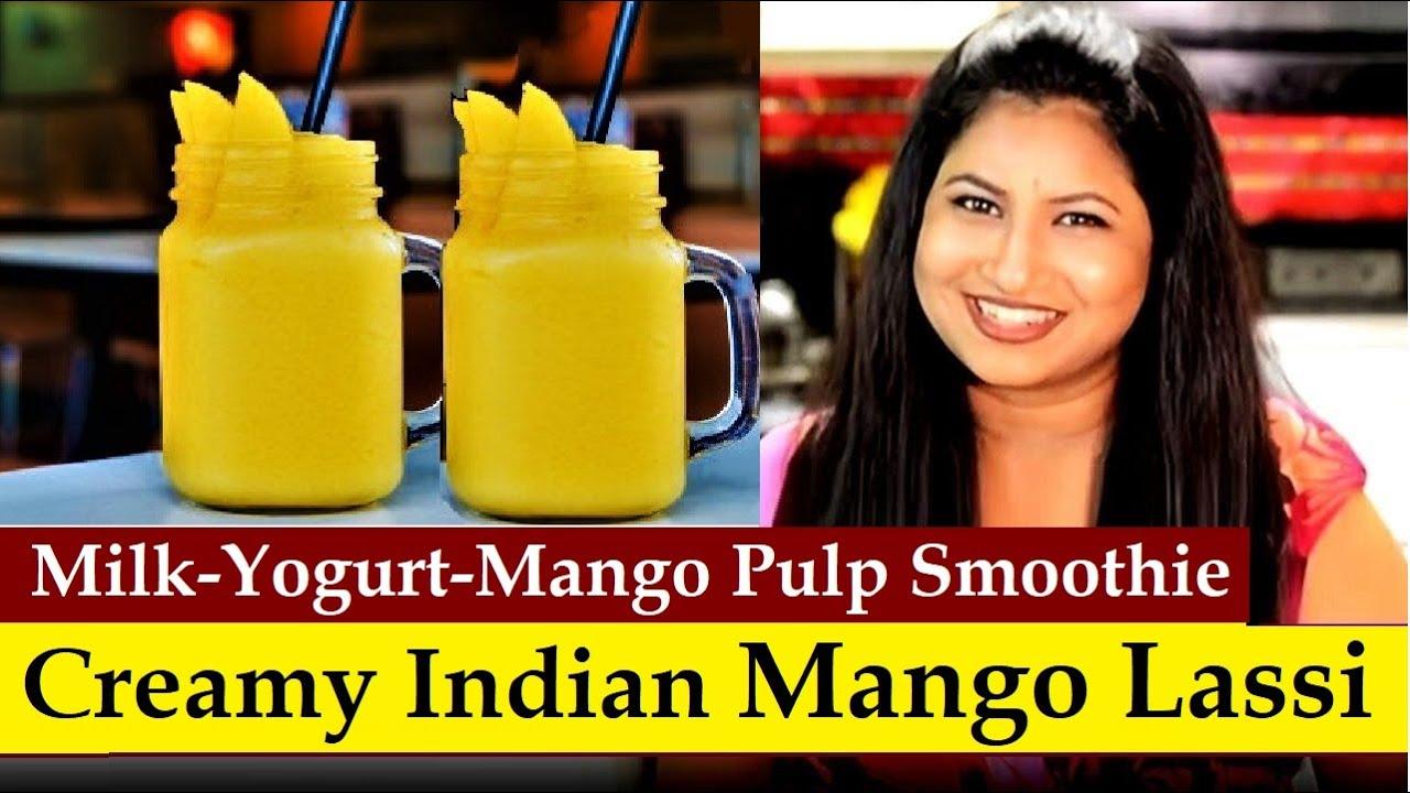 Mango Lassi | Indian Mango Yogurt Smoothie | Drink Recipe - YouTube