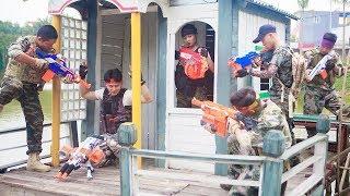 ltt nerf war seal x warriors nerf guns fight attack criminal group rescue captain alpha