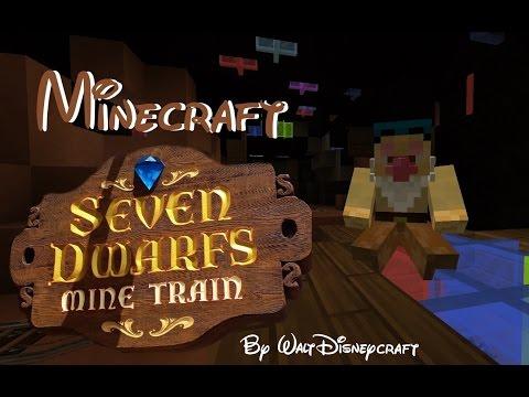 Minecraft - Seven Dwarfs mine Train (Interactive Queue + Ride) by Walt DisneyCraft