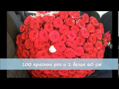 Букет из 25 красных роз с зеленью