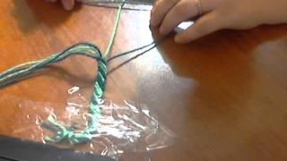 Video 1 плетение фенечки, урок 2