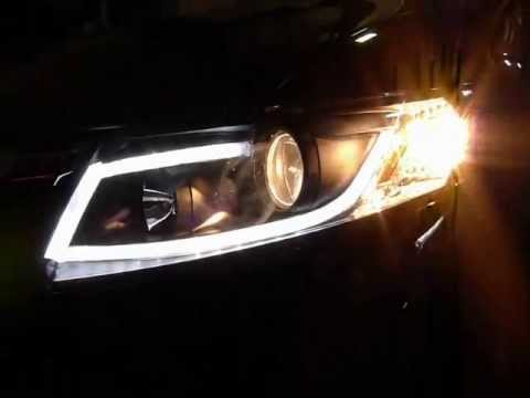 Farol Projector Com Barra De Led Honda Civic 2012 Tuning