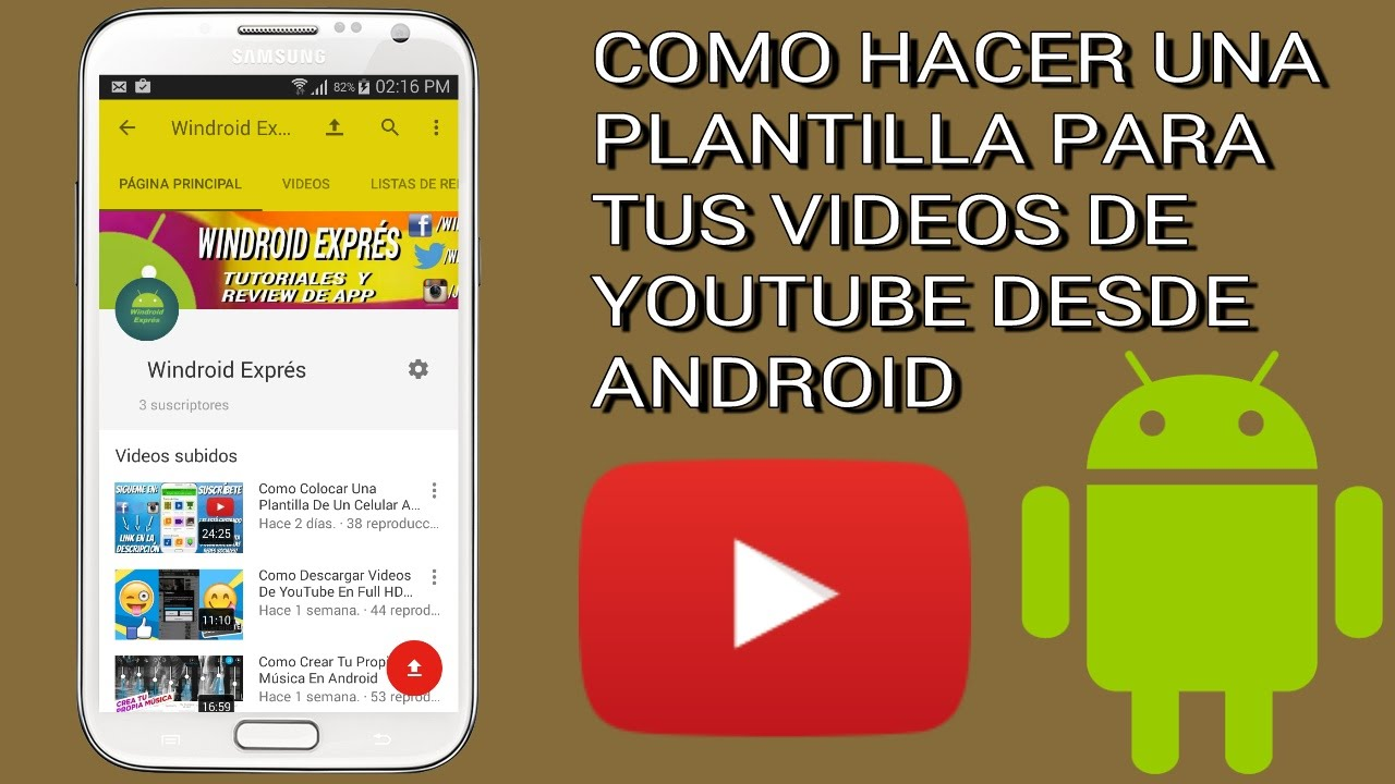 Como Colocar Una Plantilla De Un Celular A Tus Videos De YouTube ...