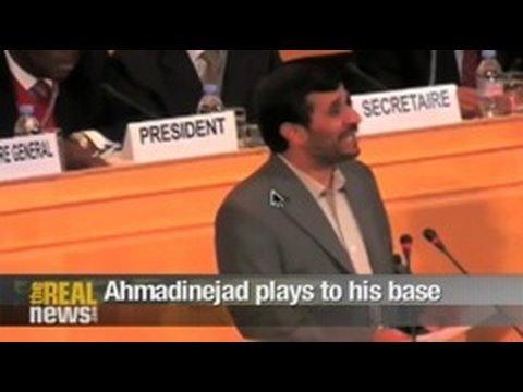 Ahmadinejad plays to his base