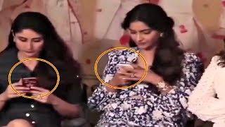 Kareena Kapoor And Sonam Kapoor Obsessed With Phone