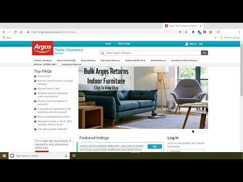 How To Buy Wholesale From Argos Trade Clearance Auction Website. Stock. Amazon And EBay Reselling UK
